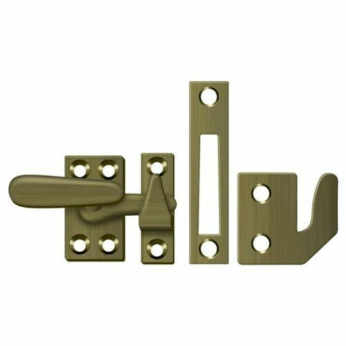 Deltana CF066U5 Window Lock, Casement Fastener, Small, Antique Brass