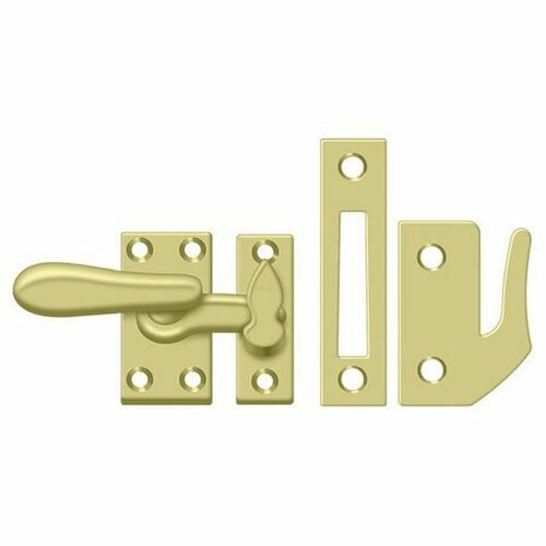 Deltana CF66U3 Window Lock, Casement Fastener, Medium, Polished Brass