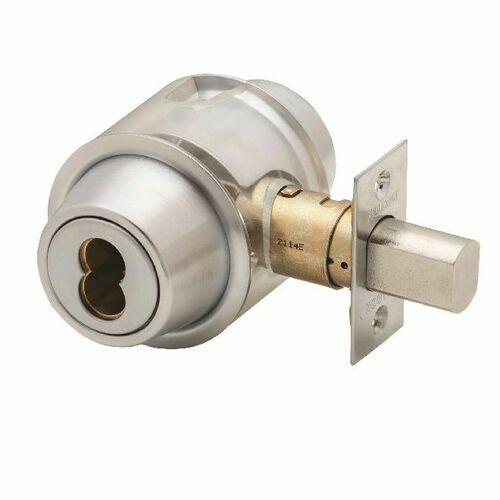 Falcon Lock D141BD626 D100 Series Small Format Single Cylinder Deadbolt 30256 Latch 10094 Strike Satin Chrome Finish