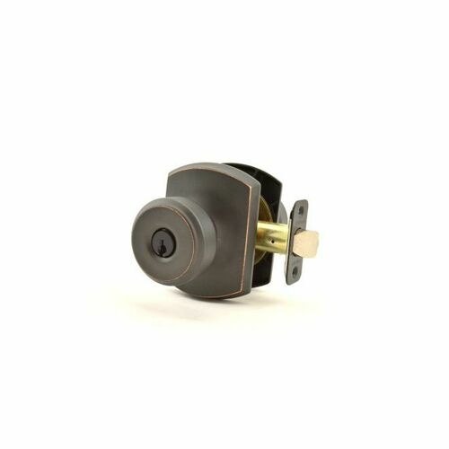 Schlage F51ABWE716GRW Bowery Knob with Greenwich Rose Keyed Entry Lock C Keyway with 16211 Latch and 10063 Strike Aged Bronze Finish