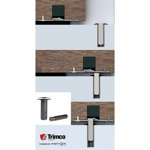 Trimco FANTOM-BD625 Fantom Barn Door Innovative Magnetic Door Stop Bright Chrome Finish