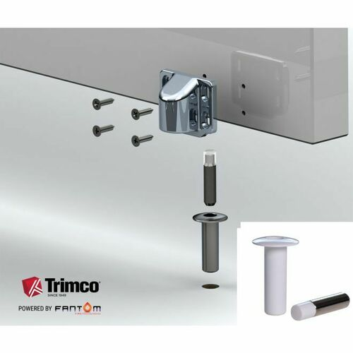 Trimco FANTOM-FWHITE Fantom Fire Innovative Magnetic Door Stop White Finish