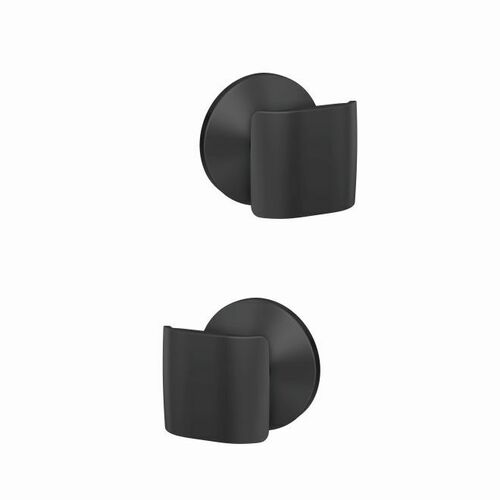 Schlage FC21GAN622KIN Ganton Knob with Kinsler Rose Passage and Privacy Lock with 16600 Latch and 10027 Strike Matte Black Finish