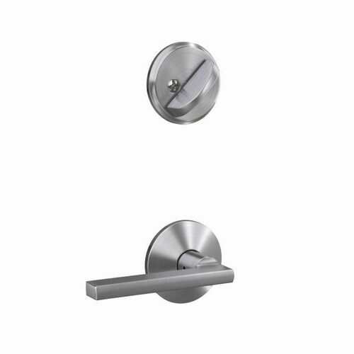 Schlage FC59LAT626KIN Custom Latitude Lever with Kinsler Rose Interior Active Trim with 16680 Latch and 10269 Strike Satin Chrome Finish
