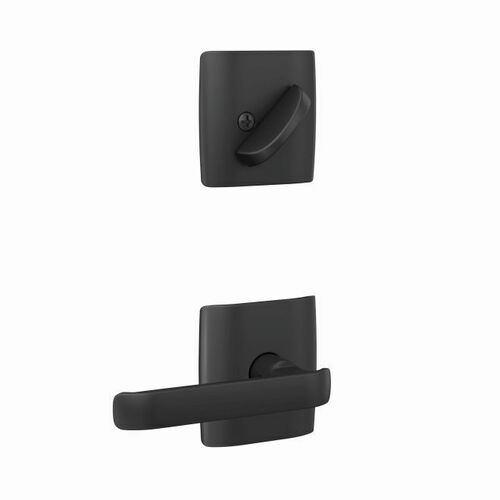 Schlage FC94CYB622DLT Clybourn Lever with Dalton Rose Dummy Interior Trim Matte Black Finish