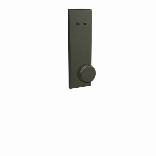 Schlage FCT94BWE530CEN Bowery Knob with Century Escutcheon Dummy Interior Trim Black Stainless Finish