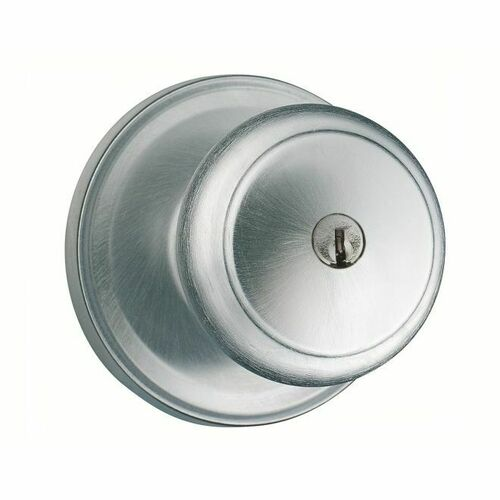 Weiser Lock GA531T26DS Troy Entry Door Lock with Smart Key with 6 Way Adjustable Latch and Round Corner Strike Satin Chrome Finish