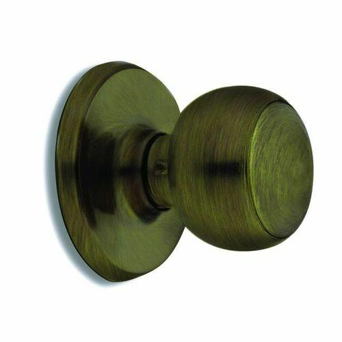 Weiser Lock GAC101F5 Fairfax Passage Door Lock with 6 Way Adjustable Latch and Round Corner Strike Antique Brass Finish