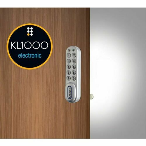 Codelocks KL1006KITLH Left Hand KitLock Keypad Locker Lock Kit with All Size Shells Black Finish
