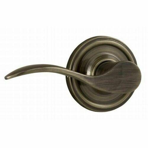 Weslock L0605UA--0020 Left Hand Bordeau Half Dummy Lock Antique Brass Finish
