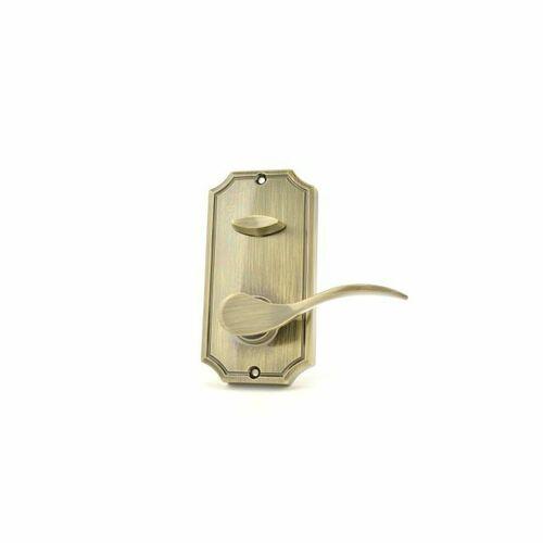 Weslock L1405--UA0020 Left Hand Bordeau Interior Dummy Interconnected Handleset Trim for Lexington or Colonial Antique Brass Finish