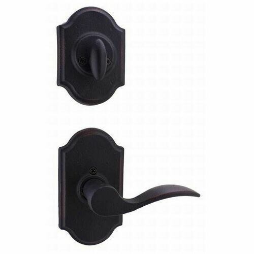 Weslock L7400--H1SL20 Left Hand Carlow Interior Single Cylinder Handleset Trim for Castletown with Adjustable Latch and Round Corner Strikes Oil Ru...