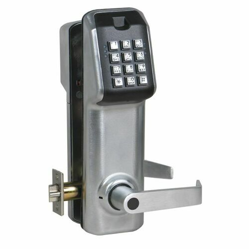 IEI LS1C26DAMICB Stand Alone Keypad Access Control Lever Lock with Best IC Prep Satin Chrome Finish