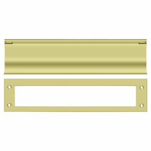 Deltana MS0030U3 Mail Slot, HD, Polished Brass