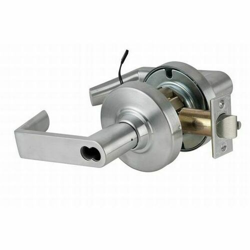 Schlage ND96BDELEURHO626RX ND Series Vandlgard Storeroom Electrically Locked or Unlocked with RX Switch Small Format Less Core Rhodes with 13-247 L...