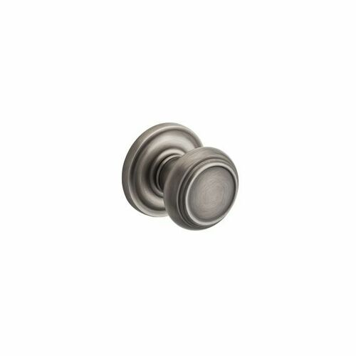 Baldwin PSTRATRR152 Passage Traditional Knob and Traditional Round Rose with 6AL Latch and Dual Strike Matte Antique Nickel Finish