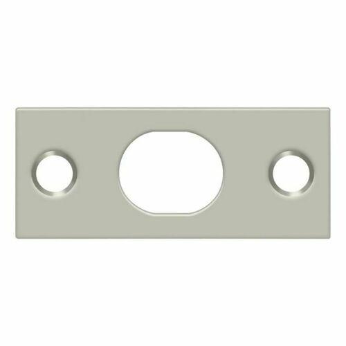 Deltana SP12EFB15 Strike Plate For Extension Flush Bolt, Brushed Nickel